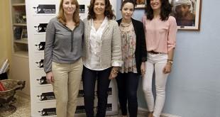 Presidenta de Tierra de Hombres en Sevilla y su equipo, Montserrat Hernan, Maria Antonia Jimenez, Pilar Ceballos y María Domecq. FOTO: VANESSA GOMEZ