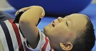 David Ramírez tiene 4 años y tiene parálisis cerebral / F.J. Romero