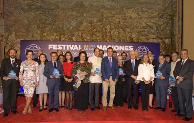 Galardonados en los XII Premios Solidarios Sevilla 2015 del Festival de las Naciones / Foto: Juan José Úbeda
