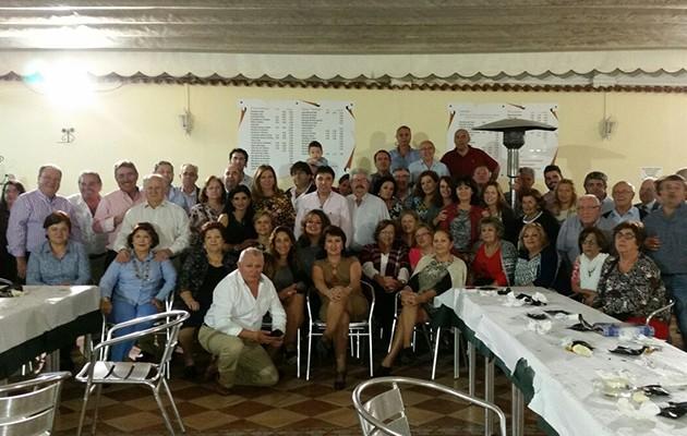 Integrantes de la peña Amigos Solidarios / ABC