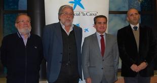 Carrasco, Toscano, Herrador y Álvarez tras la firma de la ayuda / L.M.