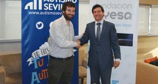 Marcos Zamora, director general de Autismo Sevilla y Ricardo Galán, director gerente de la Fundación Ayesa.