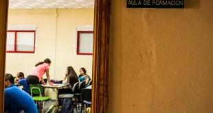 Los voluntarios de Aldaba trabajan con niños en riesgo de exclusión social