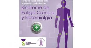 Distintivo que lucirán las farmacias adscritas al Proyecto Parhelio sobre FM y SFT / Colegio de Farmacéuticos de Sevilla