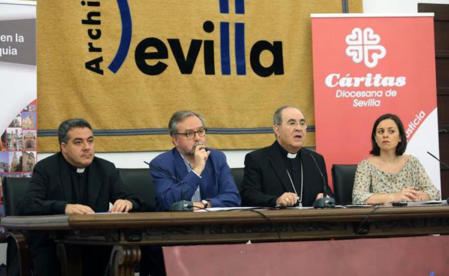 Presentacion de la Memoria de Cáritas en el Arzobispado. FOTO: VANESSA GÓMEZ.