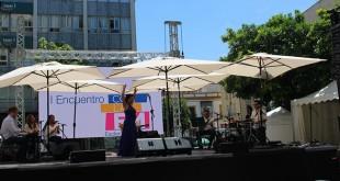 La artista durante su actuación en el encuentro / Foto: Asem