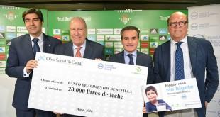 Presentación de la campaña 'ningún niño sin bigote' / Foto: Real Betis
