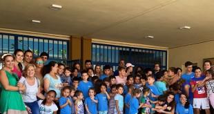 Los participanates en la escuela de verano de la asociación de Mujeres de Santiago el Mayor