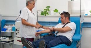 Donación de sangre en el Centro de Transfusión Sanguínea