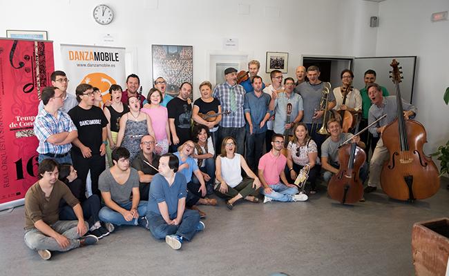 el proyecto 'Mosaicos de Sonidos' que desarrolla en Sevilla la Real Orquesta Sinfónica, junto a Plena Inclusión