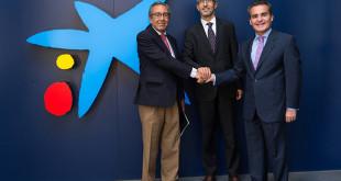 """La Fundación Tres Culturas del Mediterráneo firma un convenio de colaboración con la Fundación Bancaria """"la Caixa""""."""