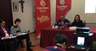 La rueda de prensa ofrecida por Cáritas este martes en Sevilla - VANESSA GÓMEZ