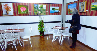 La exposición puede visitarse en el bar La Esquinita de Javier, ubicado en la plaza de la Constitución / Foto: Colectivo Alyamal