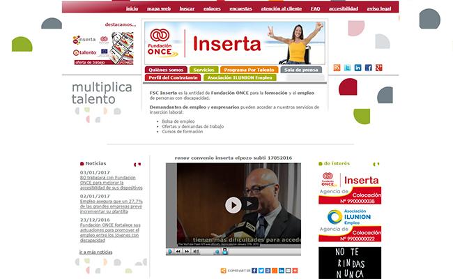 Web de Inserta Empleo de la Fundación ONCE