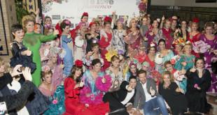 Desfile solidario de la Fundación Sandra Ibarra en We Love Flamenco en la edición de 2016. Aníbal González