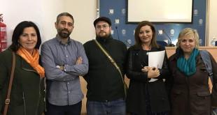 Los protagonistas de la charla celebrada en Utrera / ABC