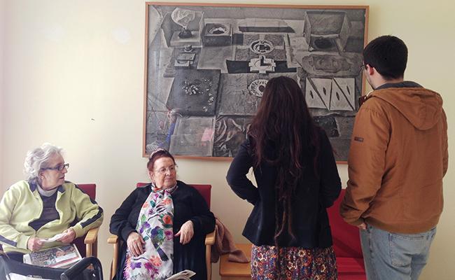 Un centro de personas mayores usado como galería de arte