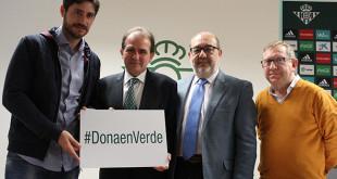 Presentación de la campaña Dona sangre, dona en verde / foto: Fundación Real Betis