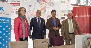 Isabel Guisado, gerente del Club Zaudín, Juan Antonio Rodriguez, organizador del torneo, Fran Rivera, representante del Mercado Lonja del Barranco, y Miguel Ángel Jadraque, director del centro de apoyo infantil / L.A.