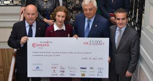 La Cámara de Comercio entrega a Andex 25.000 euros recaudados en la Gala Flamenca