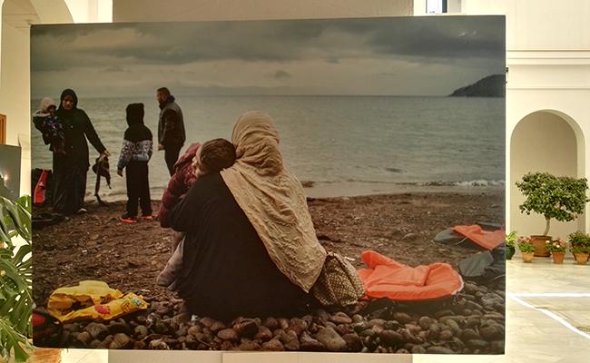 La exposición ha contado con la colaboración de tres fotógrafos internacionales