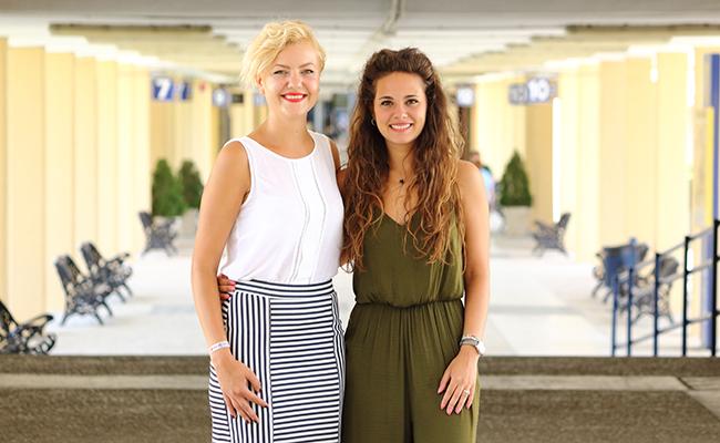 Roxana-Stefana Cotofanu  y Macarena Vázquez Jara son dos de las estudiantes que han participado en programas de voluntariado de la Olavide