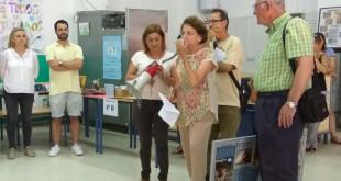 En la imagen, responsables del proyecto solidario en el colegio Blas Infante de Alcalá