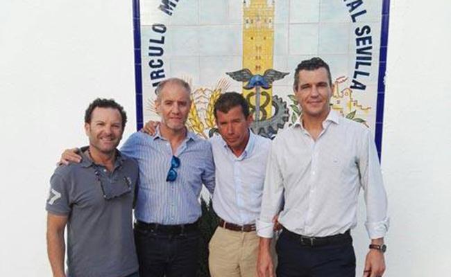 Ángel, Manu, Rafa y Rodrigo, los nadadores que afrontarán el reto