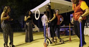 Punto informativo instalado frente al Conservatorio de Danza FOTO: PEPO HERRERA/AYUNTAMIENTO DE SEVILLA