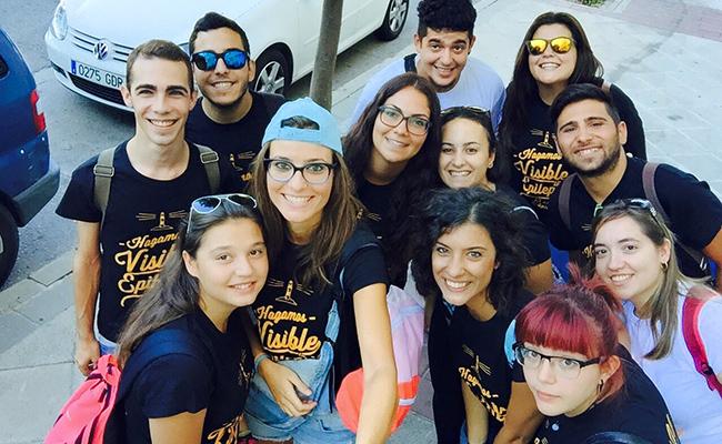 Voluntarios en el campamento de Ápice el año pasado / Ápice