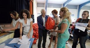 Reparto de material escolar efectuado el pasado curso escolar en el Distrito Sur 7 Ayuntamiento de Sevilla