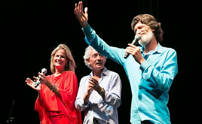 Blanca Parejo, José María Pachecho y Emilio Caracafé durante el acto / DORO JR