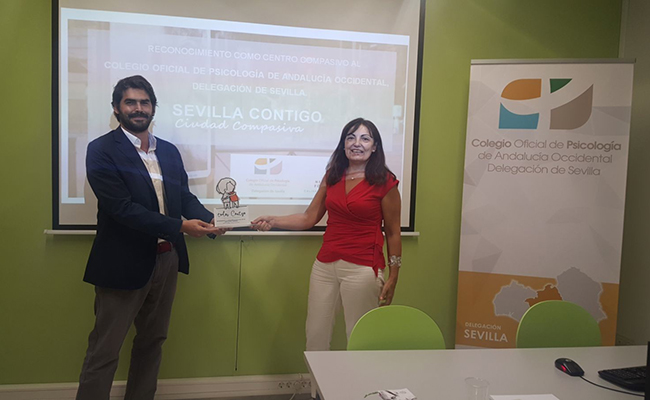 Fundación New Health reconoce a la delegación en Sevilla del Colegio Oficial de Psicología como centro «compasivo»