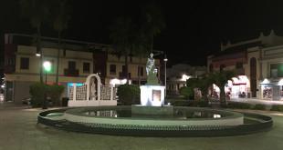 El Ayuntamiento de Mairena del Alcor ilumina de verde una glorieta por el día de la Salud Mental