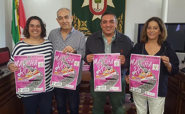 Más de 2.500 participantes en la Marcha Rosa contra el cáncer en Lora del Río