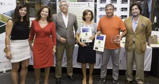 Los ganadores de la 1ª categoría recogen su premio