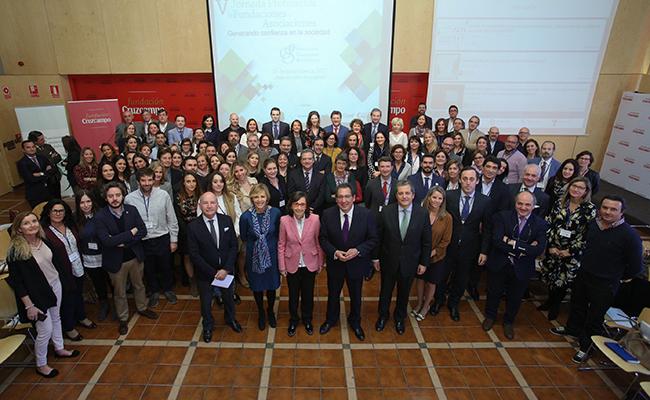 Los participantes en las Jornadas de AFA