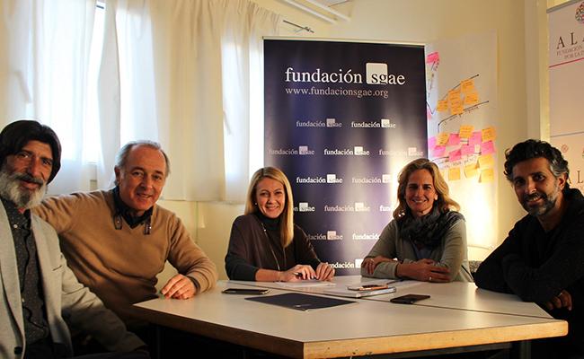 Firma del acuerdo entra la Fundación Alalá y la Fundación SGAE