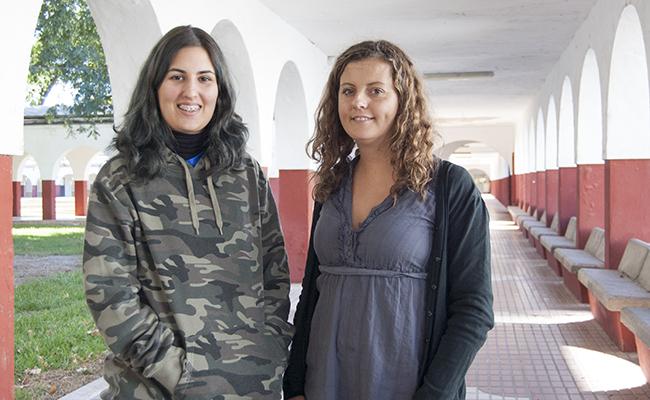 Michelle Monzón y Astrid Navarro en la sede de Dace e Indace / L.A.