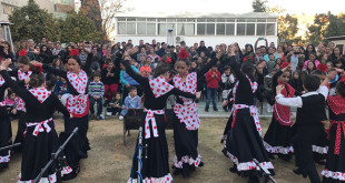 Los niños de la Fundación Alalá actuaron durante la zambomba / Alalá