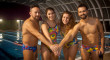 Cuatro nadadores de Carmona cruzarán el estrecho para ayudar a mujeres con discapacidad de La India
