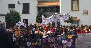 Un instante de la marcha solidaria celebrada en Utrera