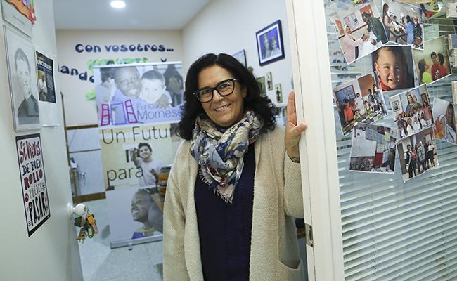 Susana González Fadrique en la sede de la Fundación Mornese. FOTO: ROCÍO RUZ