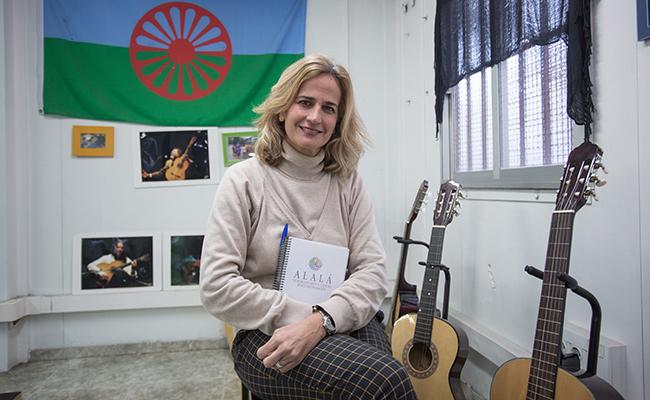 Blanca Parejo en una de las clases de Alalá, en el Centro Cívico El Esqueleto / Vanessa Gómez