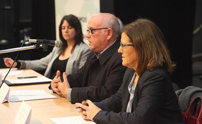 Laura Álvarez, Fermín Caballero y Emilia Barroso / Fundación Montepíos