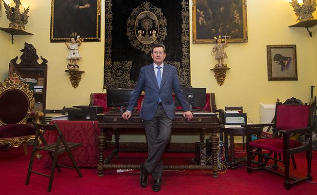 Jose Luis Cabello, Hermano Mayor de la Hermandad de Pasion. Foto: Juan Jose Ubeda. Archsev.