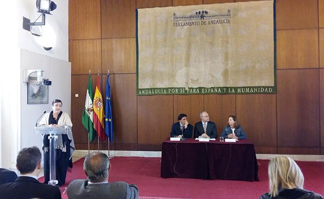 Acto en el Parlamento de Andalucía / Autismo Andalucía