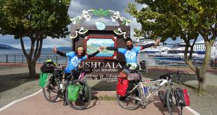 Enrique y Laura a su llegada a Ushuaia en Argentina