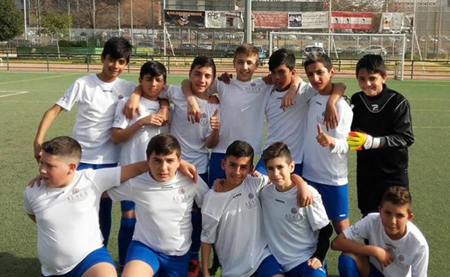 El equipo de fútbol 7 de Fundación Alalá / Alalá