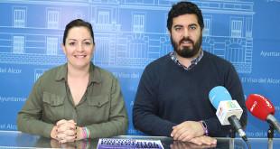 La delegada de la mujer, Pilar Prena, y delegado de cultura, Juan Jiménez